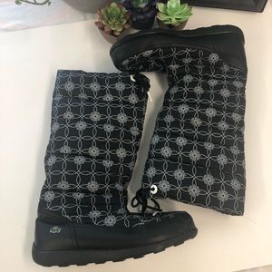 Women's Lacoste black winter boots size 9